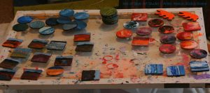 Miniature Paintings in Progress
