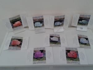 Painted sheep brooches