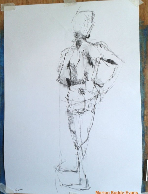 5 minute figure gesture drawing