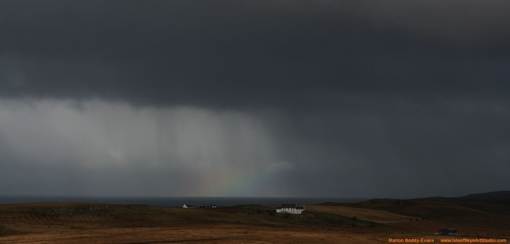 Rainbow Rain Cloud Skye Scotland