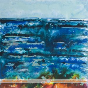 Wild Minch sea painting by artist Marion Boddy-Evans