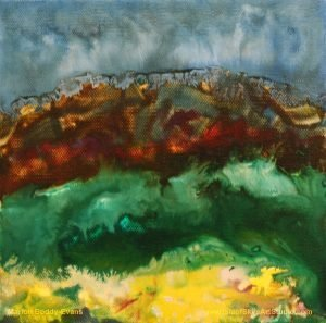 First Gorse Study #2 painting