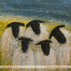 Say Cheese (sheep painting by Marion Boddy-Evans)