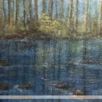 Flowing Past tree river painting by Marion Boddy-Evans
