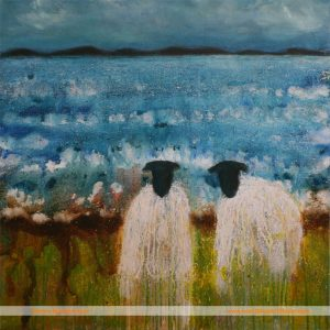 Sheep painting by Marion Boddy-Evans