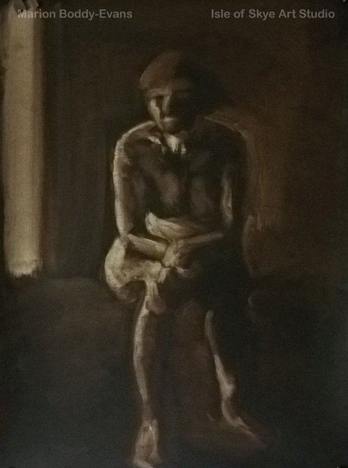Monochrome Figure Painting
