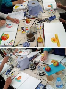 Beginner's Art Class: Watercolour Apples