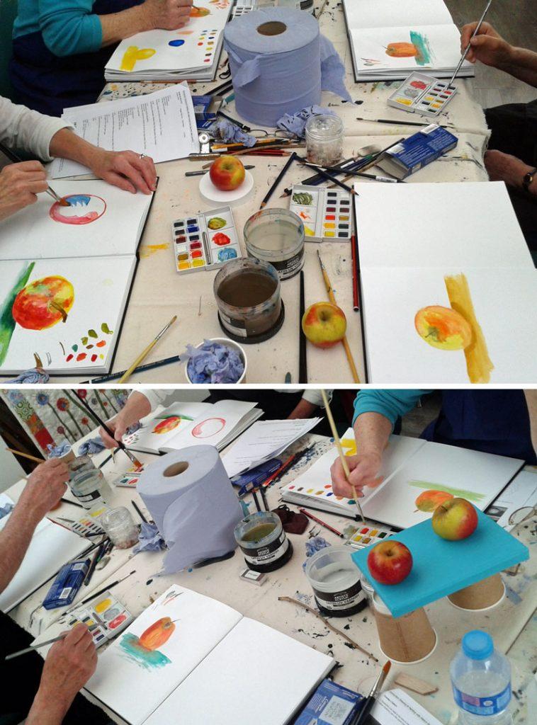 Beginner's Art Class: Watercolour Apples