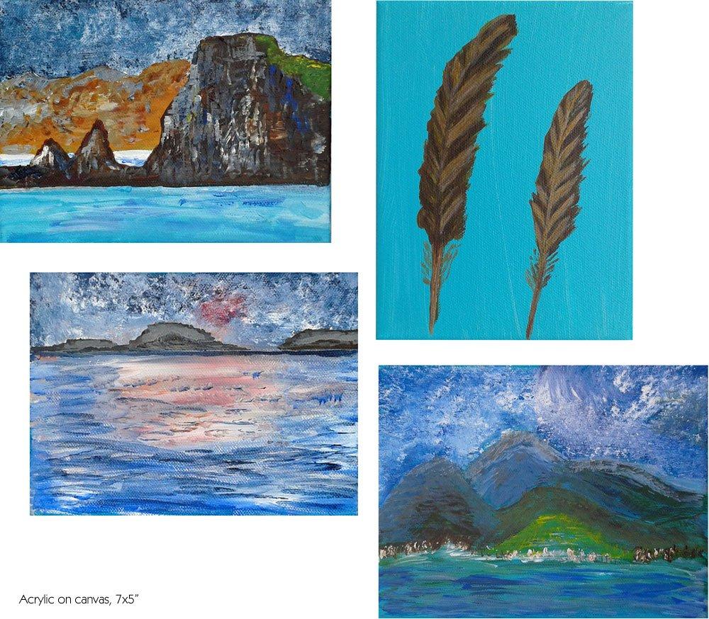 Final Paintings: Beginner's Art Class