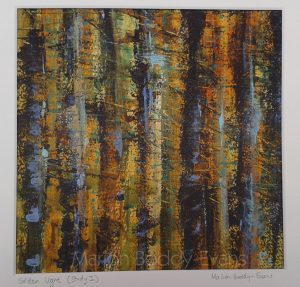 Forest tree painting by Skye artist Marion Boddy-Evans