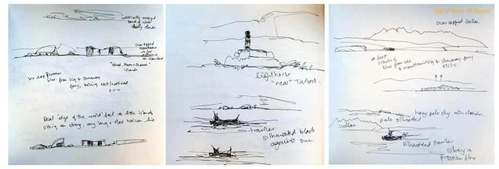 Uig to Stornoway Ferry Trip: Sketching