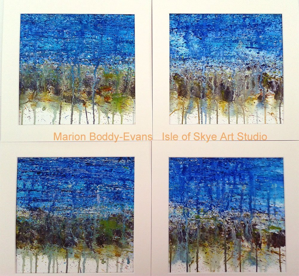 Incoming Tide paintings by Skye artist Marion Boddy-Evans