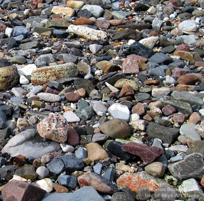 Colours of Seashore Pebbles Broadford The Old Pier