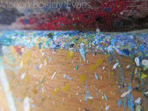 Paint Splatters on Easel #1
