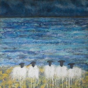 Sheep Painting: Waiting for Summer