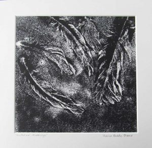 Feather Monoprints: Nocturnal