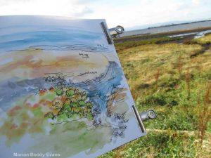 Sketching at Uig Bay, Skye