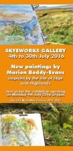 2016 Solo Painting Exhibition Marion Boddy-Evans Skye SKyeworks