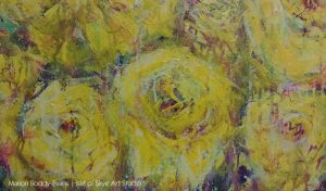 Detail from yellow roses painting