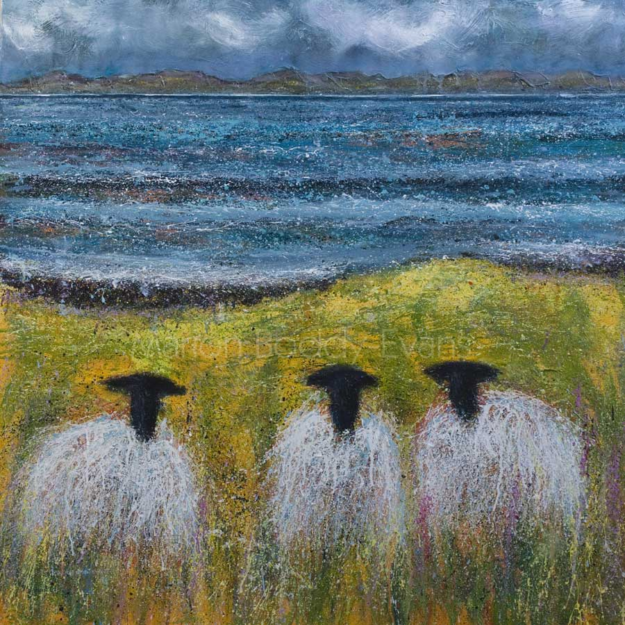 Sheep Painting: Summertime by Marion Boddy-Evans