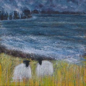 Sheep Painting: Tea for Two by Marion Boddy-Evans