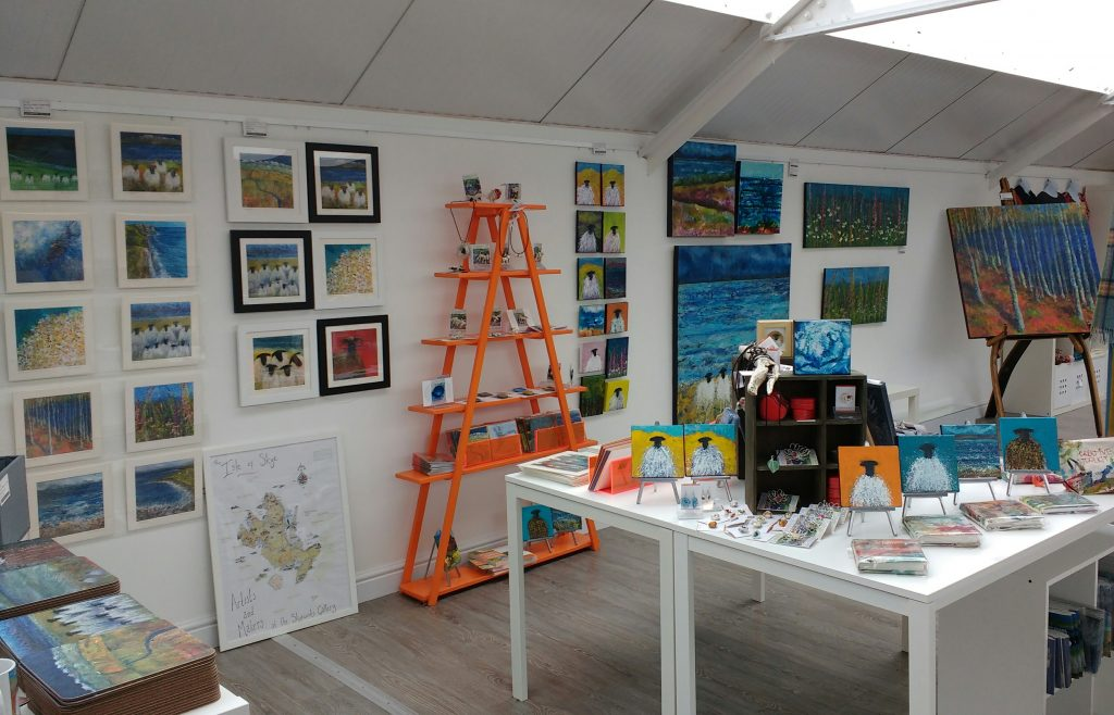 My display at Skyeworks Gallery
