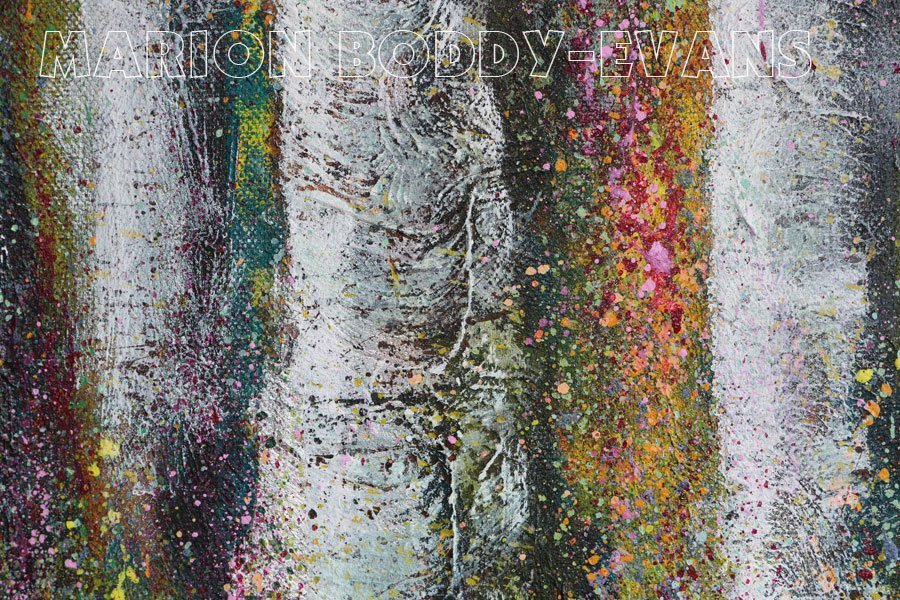 Detail from Echoes of an Ancient Forest painting by Marion Boddy-Evans