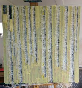WIP Tree Painting May2016: Tape Removal Starts