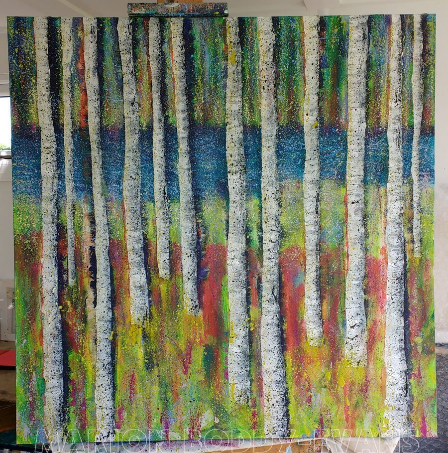 WIP Tree Painting May2016: Tape Removed