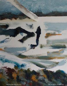 Minch Seascape painting horizon tape