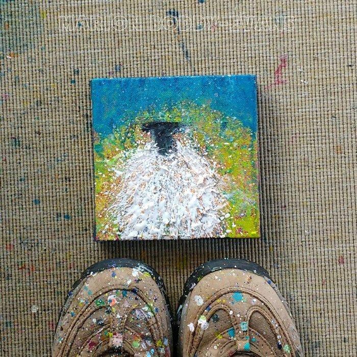 Small Sheep Painting Sunshine