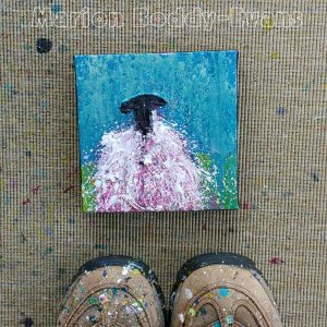 Small Sheep Painting Raining by Marion Boddy-Evans