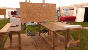 The Beginning: Arriving at my Stand at Patchings Art Festival 2016