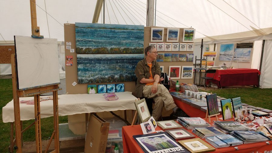 My Stand at Patchings Art Festival 2016