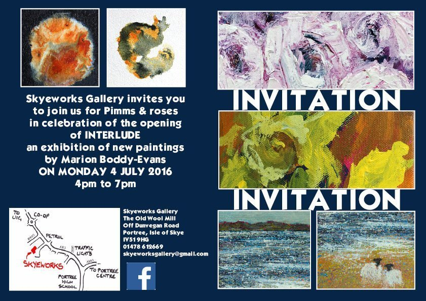 Interlude Exhibition Invitation