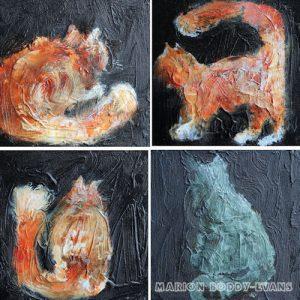 Studio Cat Paintings on Canvas