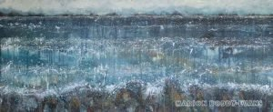 Musing the Minch: Late Spring Snow Showers seascape painting