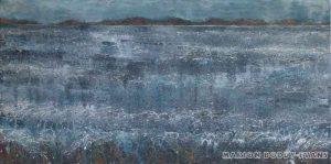 Moods of the Minch: Sunshine Glare seascape painting