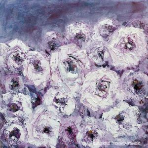 Pink Melody Flower Painting by Marion Boddy-Evans