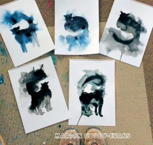 Studio Cat Paintings