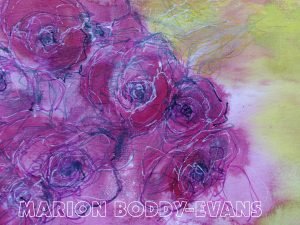 Roses with Lines painting by Marion Boddy-Evans