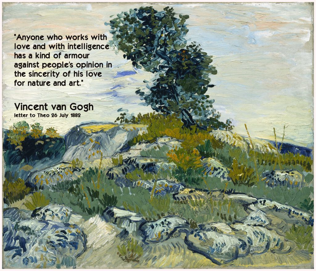 Van Gogh Quote: Artistic Armour