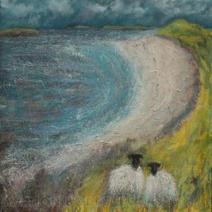 Coral Beach Sheep painting by Marion Boddy-Evans