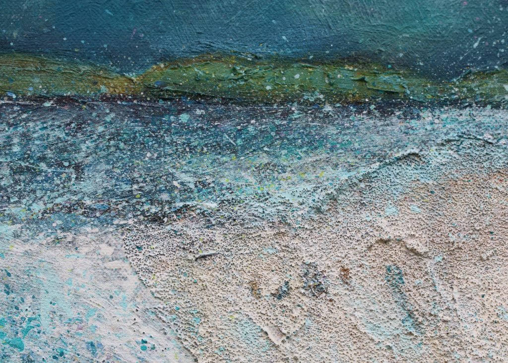 Detail from Sheep Painting: Coral Beach Picnic painting
