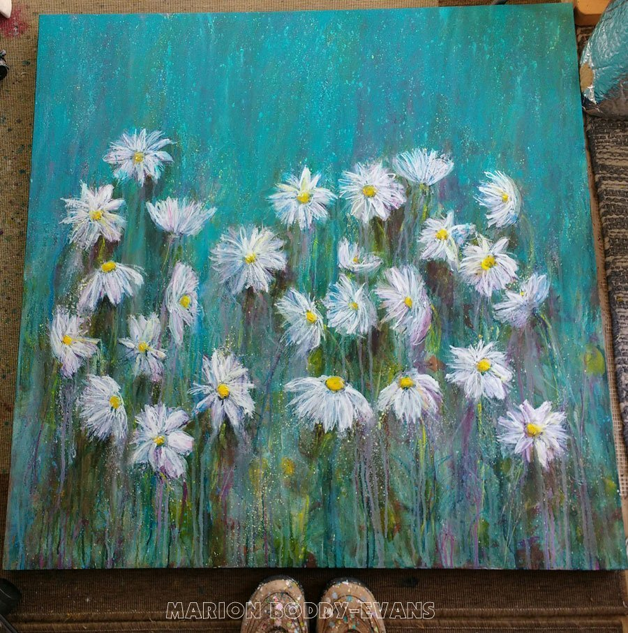 Painting in Prpgress: Daisy Lines 2
