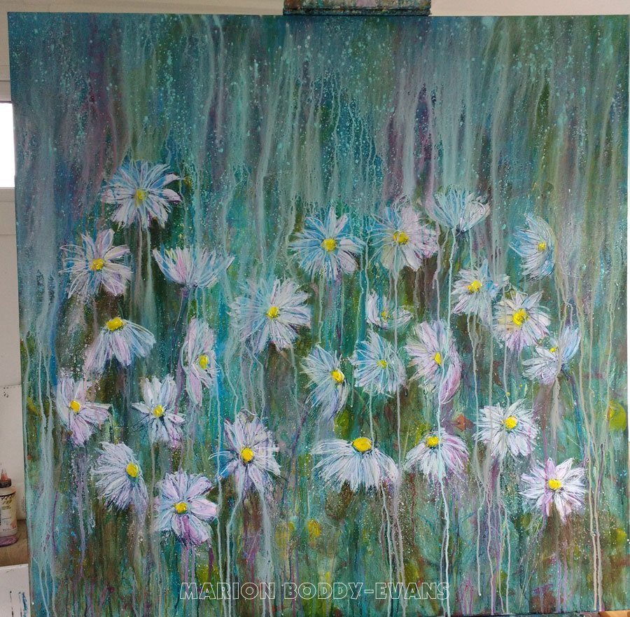 Painting in Prpgress: Daisy Lines
