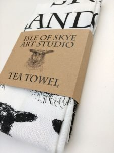 Isle of Skye Art Studio Sheep Tea Towel