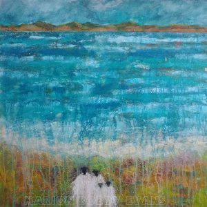 Beside the Sea sheep painting