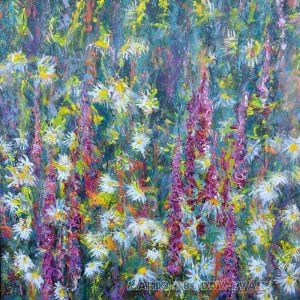 Suggestion of Foxgloves Flower Painting by Marion Boddy-Evans