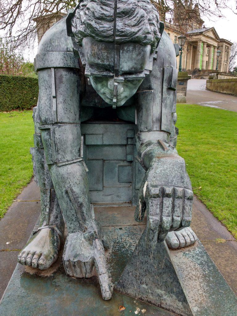 Paolozzi statue in Edinburgh